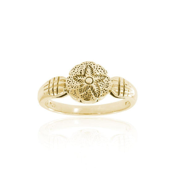 Sand Dollar Solid Gold Ring GTR3027