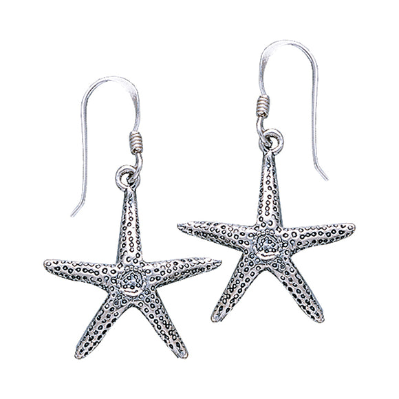 Starfish Sterling Silver Hook Earring JE106