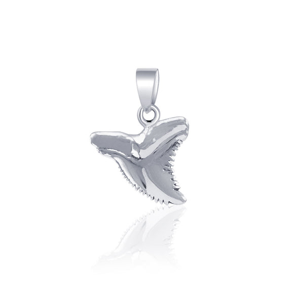Shark Tooth Sterling Silver Pendant JP031 - Pendants