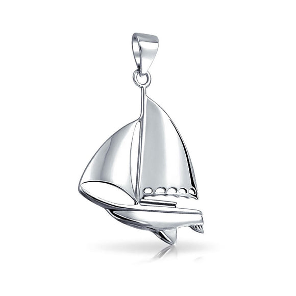 Sailboat Sterling Silver Pendant JP065 - Pendants