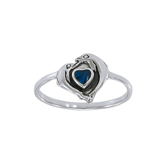 Dolphin Love Sterling Silver Ring JR139