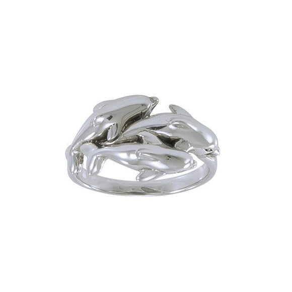 Dolphin Sterling Silver Ring MG024