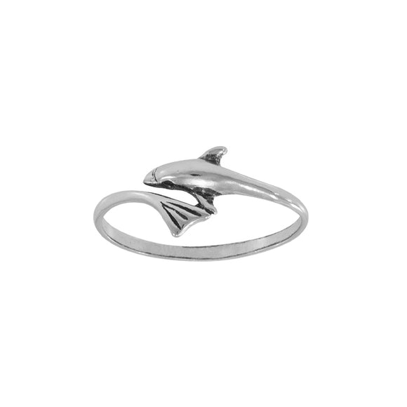 Dolphin Wrap Sterling Silver Ring MG068