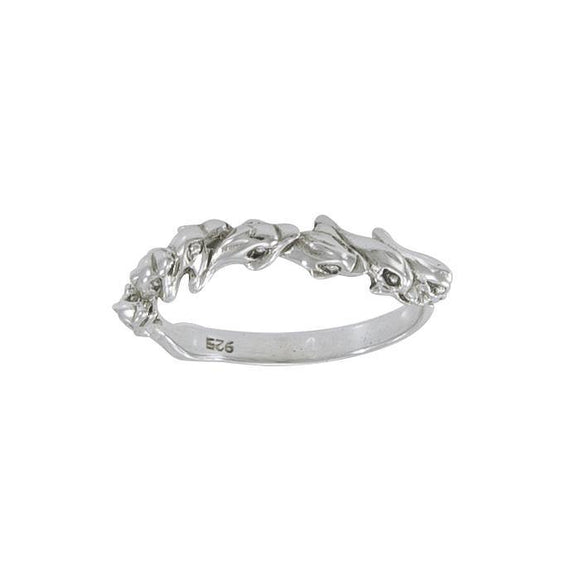 Dolphin Sterling Silver Ring MG422