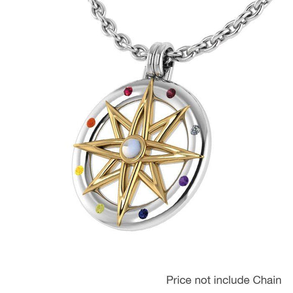 Compass Gemstone Pendant MPD683 - Pendants