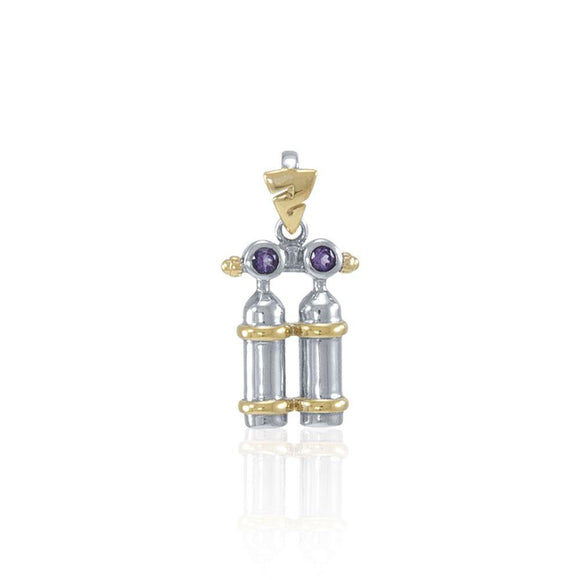 Air Tanks Sterling Silver with Gold Plated Pendant MPD693
