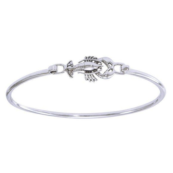 Lobster Bangle Sterling Silver Spring Lock Bracelet TBA169