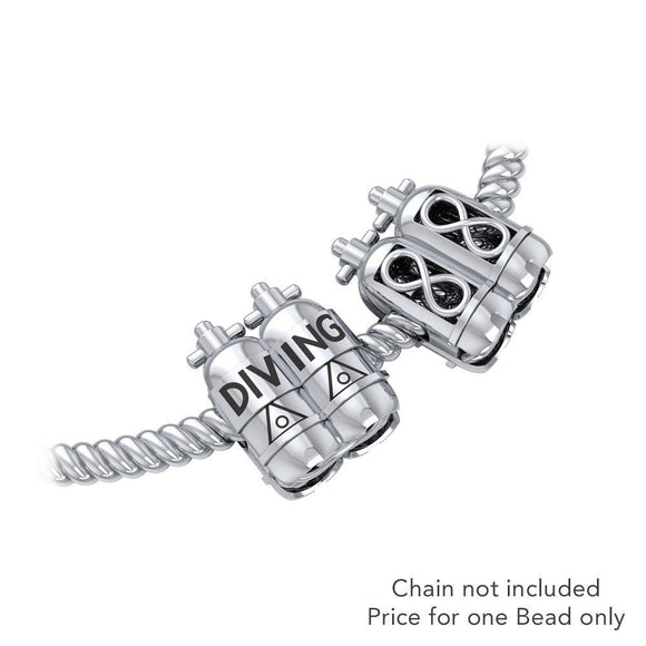 Dive Tanks Sterling Silver Bead TBD352 - Beads