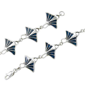 Manta Ray with Inlaid Silver Bracelet TBG545