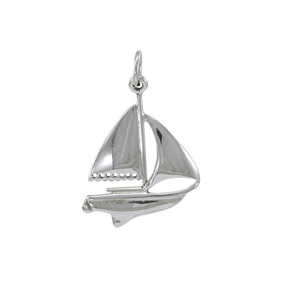 Sailboat Sterling Silver Charm TC557