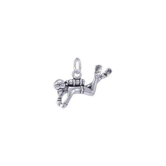 Diver Sterling Silver Charm TC604