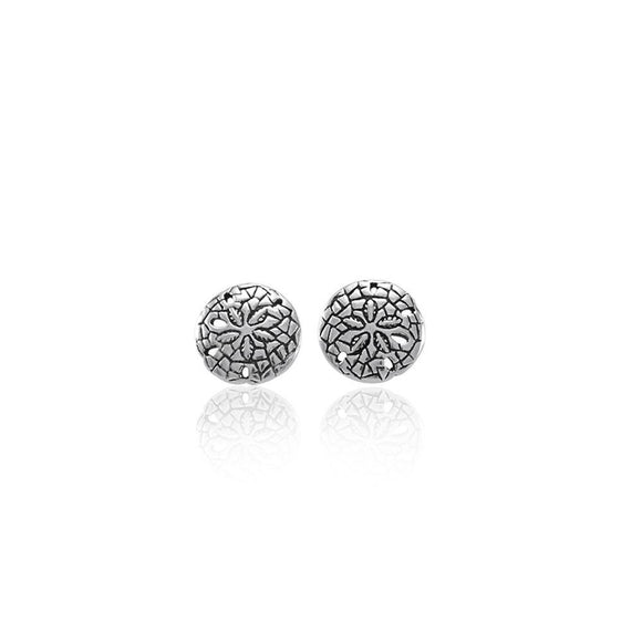 Sand Dollar Sterling Silver Post Earring TE2583