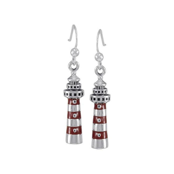 North Pacific Lighthouse T Sterling Silver Hook Earring TE2831
