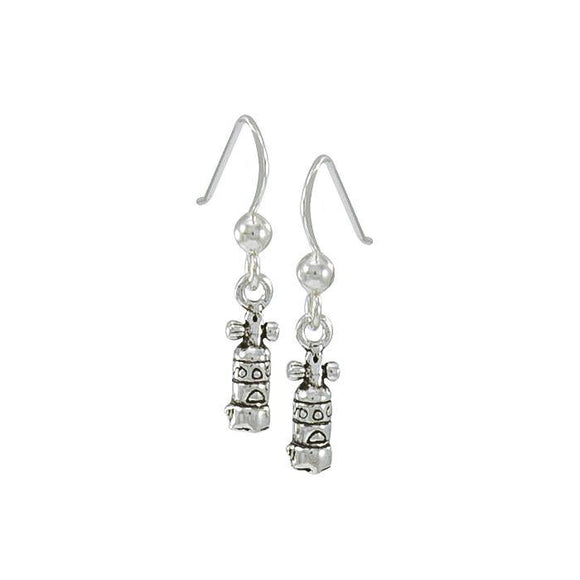 Dive Tank Sterling Silver Hook Earring TE965