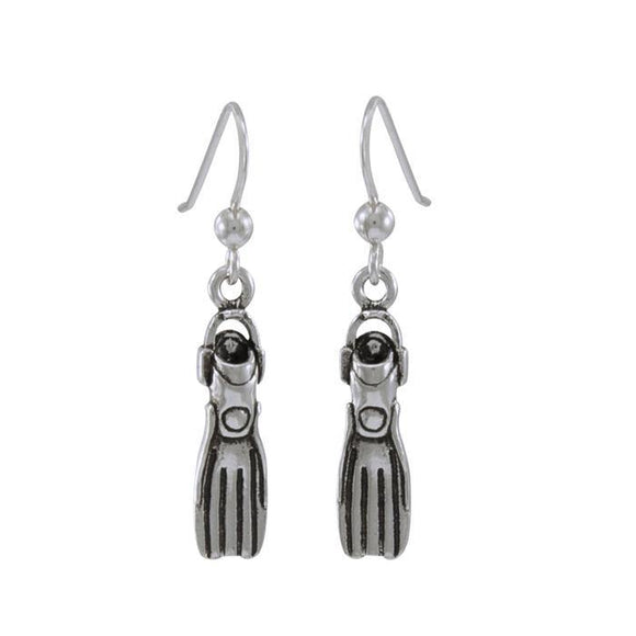 Dive Fin Sterling Silver Hook Earring TE967