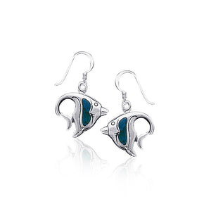 Angelfish Sterling Silver Hook Earring TE970