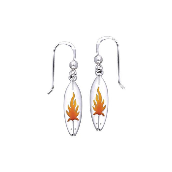 Fire On Surf Sterling Silver Hook Earring TER031