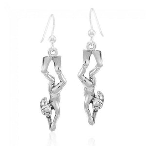 Female Free Diver Sterling Silver Earrings TER1682
