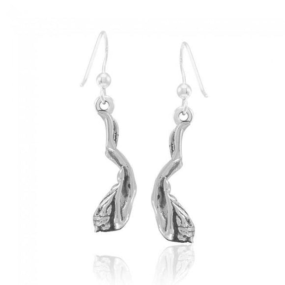 Female Free Diver Sterling Silver Earrings TER1683