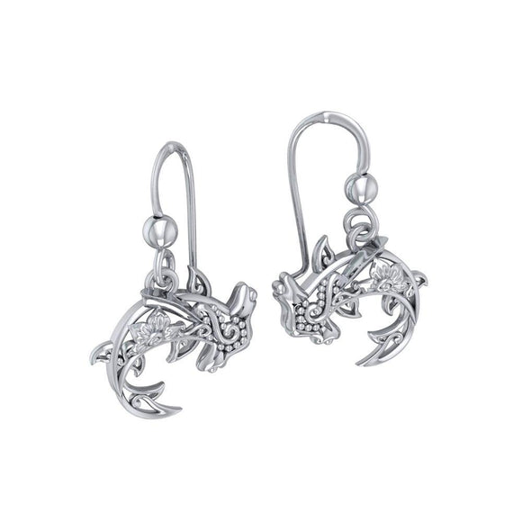 Fierce eminence Sterling Silver Hammerhead Shark Filigree Earrings Jewelry TER1713