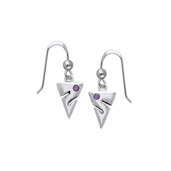 Cave Diving Sterling Silver Hook Earring TER454 - Earrings