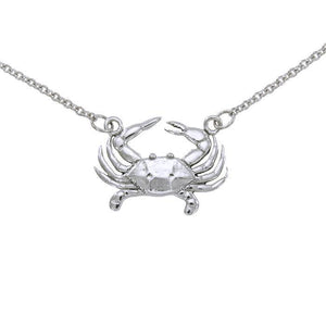 Blue Crab Necklace TN021 - Necklaces