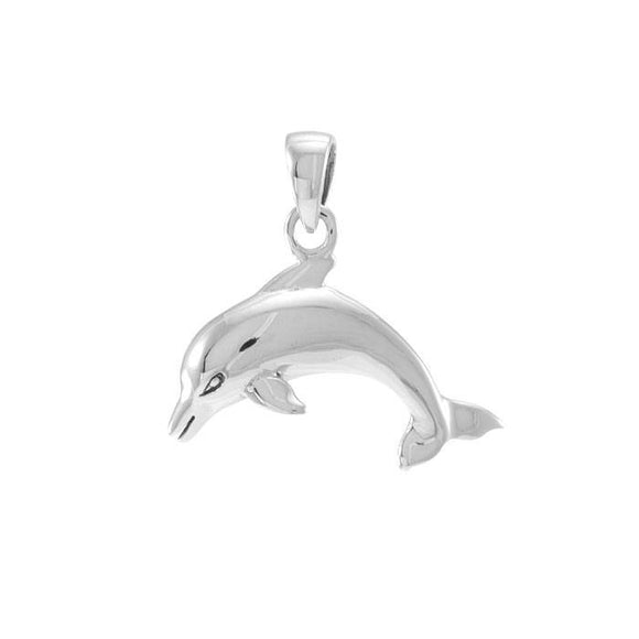 Dolphins Sterling Silver Pendant TP1016