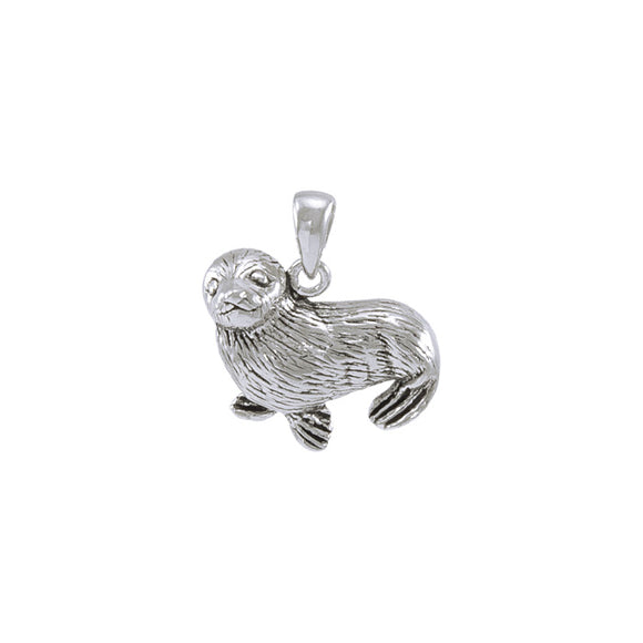 Sunning Seal Sterling Silver Pendant TP1519