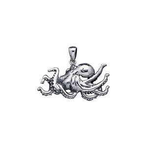 Octopuses Sterling Silver Pendant TP1547 - Pendants