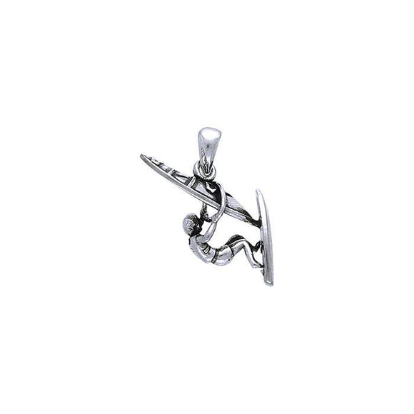 Surf Sterling Silver Pendant TP1597