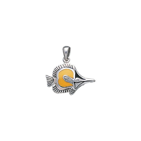 Tropical Fish Sterling Silver Pendant TP1679