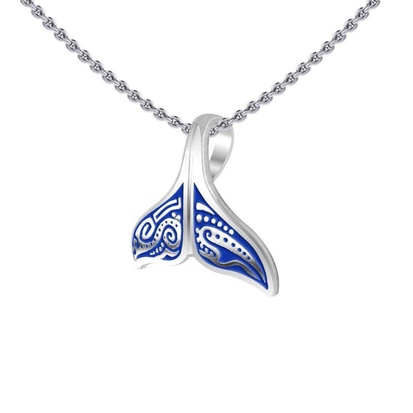 Aboriginal Inspired Sterling Silver Whale Tail Pendant ~ your item TP2327