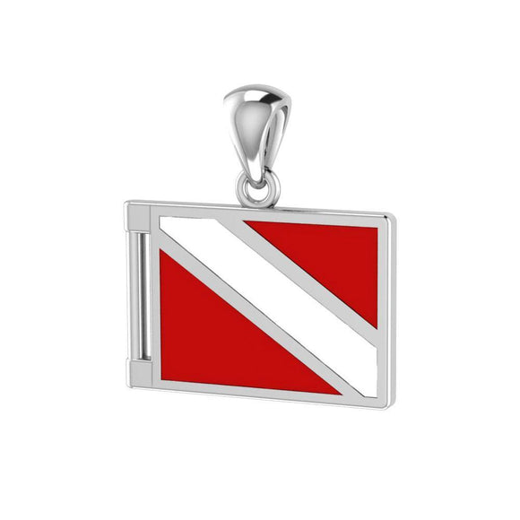 Dive Flag Sterling Silver Pendant TP2705