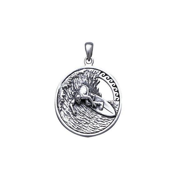 Surf's Up Sterling Silver Pendant TP2942