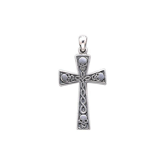 The Ark Royal Skull Cross Sterling Silver Pendant TP3056