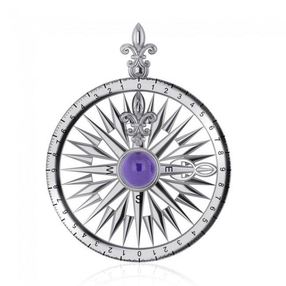 Compass Rose Gemstone Pendant TP3152