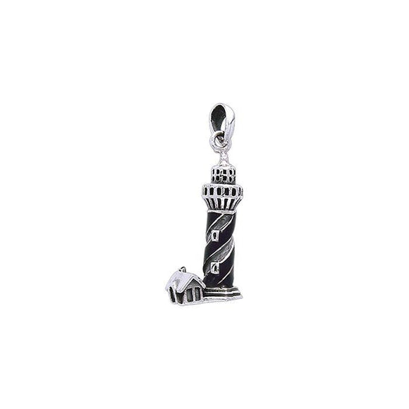 Nordic Sea Lighthouse Sterling Silver Pendant TP3158