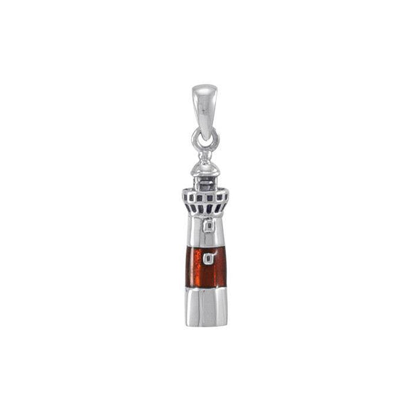 Atlantic City Lighthouse Sterling Silver Pendant TP3165
