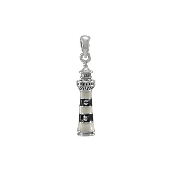 Bodie Island Lighthouse Sterling Silver Pendant TP3169