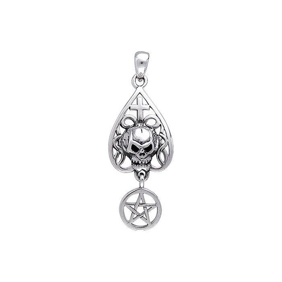 Skull With Sterling Silver Pendant TP3219
