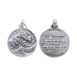The Tsunami Commemorative Sterling Silver Pendant TP3437