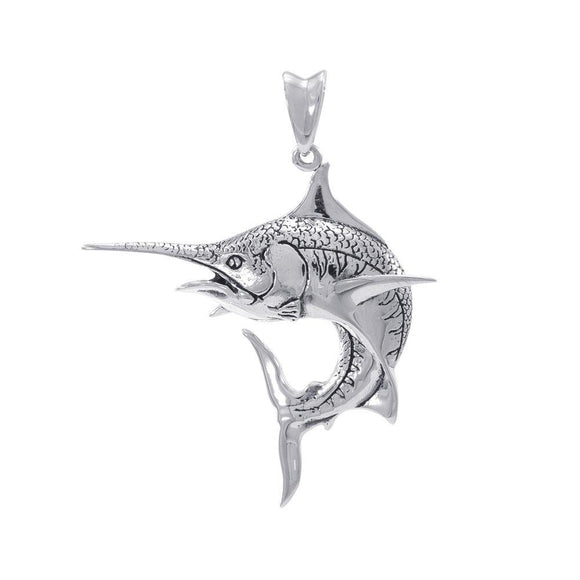 Marlin Sterling Silver Pendant TP688