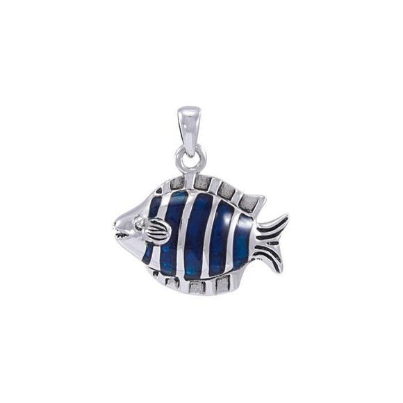 Tropical Reef Fish Sterling Silver Pendant TP970