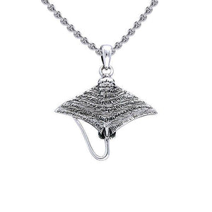 Eagle Ray Sterling Silver Pendant TPD048