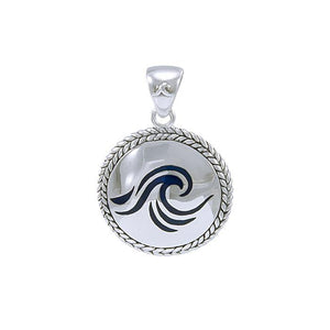Wave braided Medallion Pendant TPD076 - Pendants