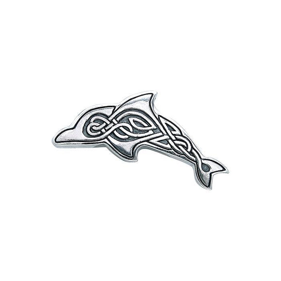 Celtic Dolphin Sterling Silver Pendant TPD084