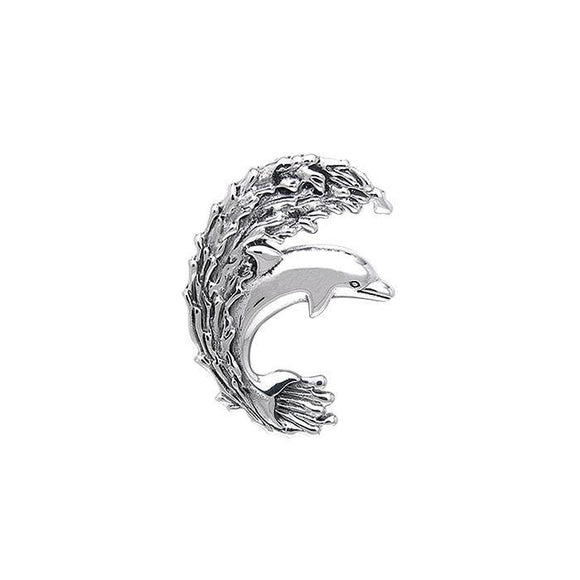 Dolphin Sterling Silver Pendant  TPD250