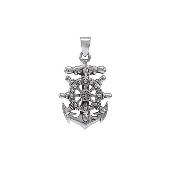Anchor Ship Wheel Pendant TPD4417