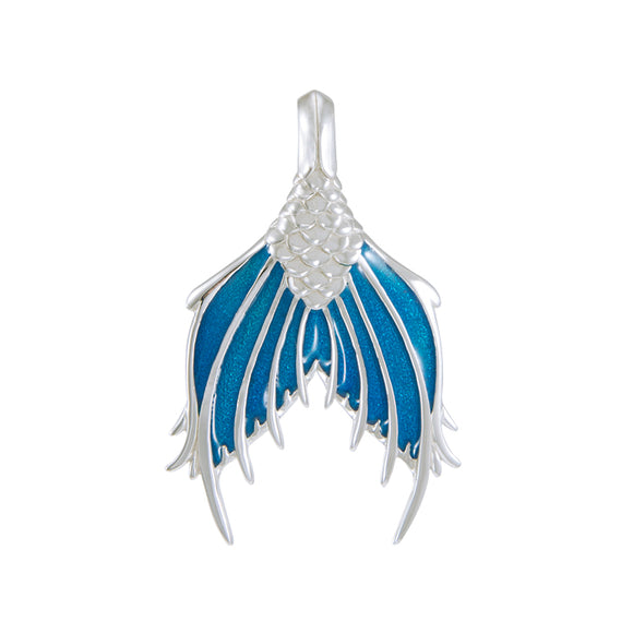 Mermaid Tail with Enamel Sterling Silver Pendant TPD4899 - Pendants