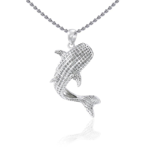 Small Whale Shark Sterling Silver Pendant TPD4967